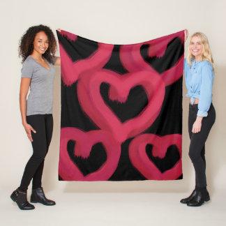 Cobertor De Velo Corações cor-de-rosa aproximadamente tirados na