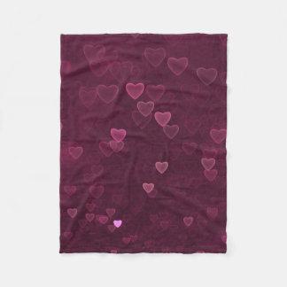 Cobertor De Velo Corações cor-de-rosa de Bokeh