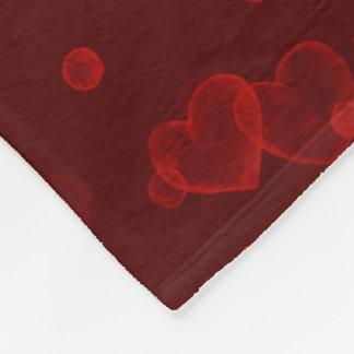 Cobertor De Velo Corações da bolha. Veludo vermelho