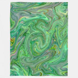 Cobertor De Velo cores cremosas, verdes