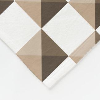 Cobertor De Velo Cores de Brown do café de Latte
