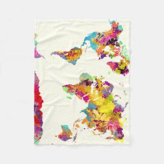 Cobertor De Velo cores do mapa do mundo