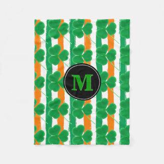 Cobertor De Velo Cores irlandesas da bandeira dos trevos | do dia