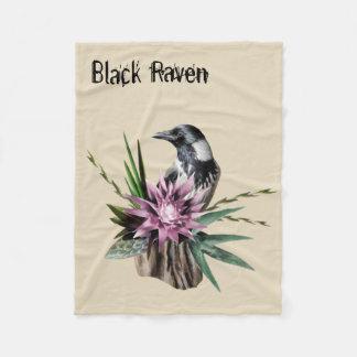 Cobertor De Velo Corvo preto
