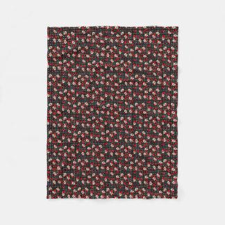 Cobertor De Velo Crânios e rosas