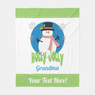 Cobertor De Velo Criar seu próprio Natal alegre do boneco de neve