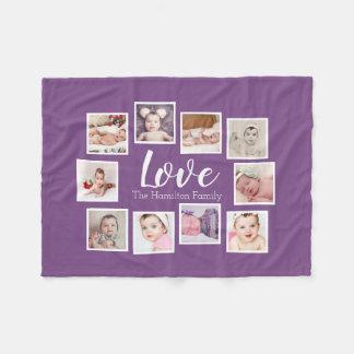 Cobertor De Velo Criar sua própria colagem de 10 fotos