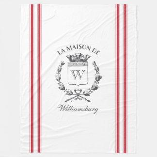 Cobertor De Velo Crista de tiquetaque vermelha francesa da família