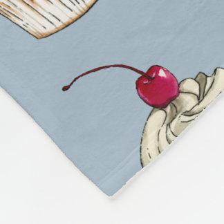 Cobertor De Velo Cupcake da aguarela com chantiliy e cereja