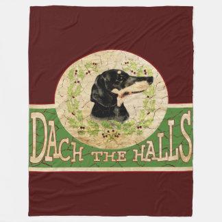 Cobertor De Velo Dachshund Dach do natal vintage (plataforma) os