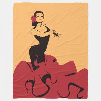 Cobertor De Velo dançarino do flamenco em uma pose espectacular
