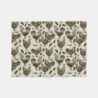 """Cobertor De Velo De """"cobertura macia do velo das galinhas Toile"""" da"""