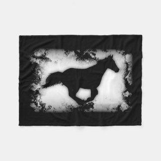 Cobertor De Velo  de galope da silhueta do cavalo do