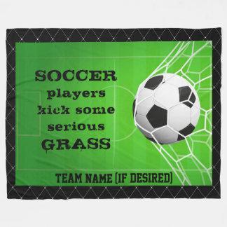 """Cobertor De Velo De """"grama do pontapé dos jogadores futebol """""""