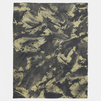 Cobertor De Velo De tinta preta no fundo do ouro