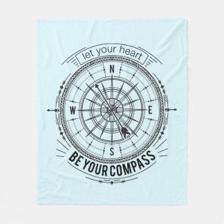 Cobertor De Velo Deixe seu coração ser seu compasso