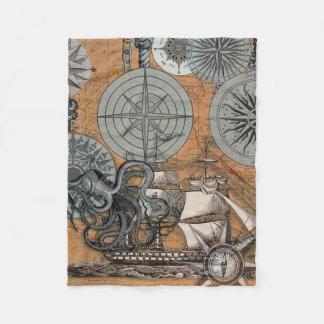 Cobertor De Velo Desenho do impressão da arte do polvo do rosa de