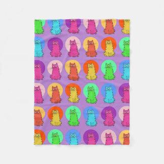 Cobertor De Velo desenhos animados engraçados do matiz múltiplo