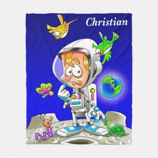 Cobertor De Velo Desenhos animados personalizados do astronauta