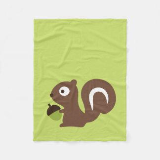 Cobertor De Velo Design bonito do esquilo do bebê