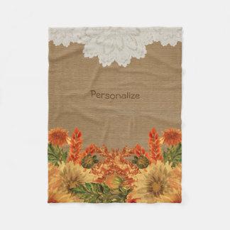 Cobertor De Velo Design da flor da queda do outono