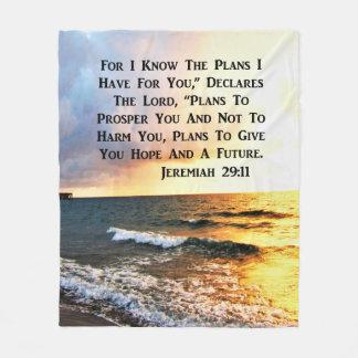 COBERTOR DE VELO DESIGN ESPIRITUAL DO OCEANO DO 29:11 DE JEREMIAH