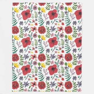 Cobertor De Velo Design floral do Watercolour