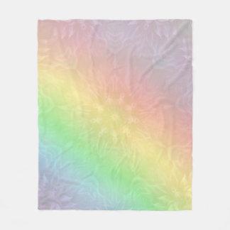 Cobertor De Velo Design Pastel da mandala do arco-íris