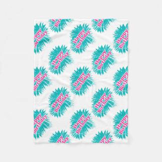 Cobertor De Velo Design tipográfico feliz de Brithday