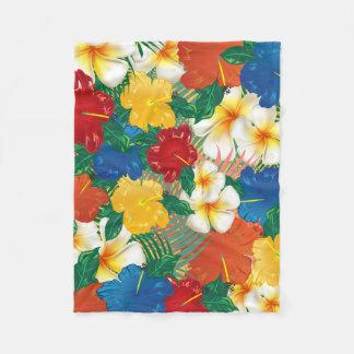 Cobertor De Velo Design tropical das flores do hibiscus
