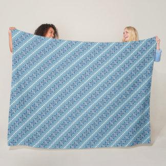 Cobertor De Velo Design ucraniano decorativo azul bonito dos