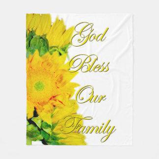 Cobertor De Velo Deus abençoe nossa cobertura da família