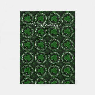 Cobertor De Velo Dia de São Patrício verde Thunder_Cove do trevo