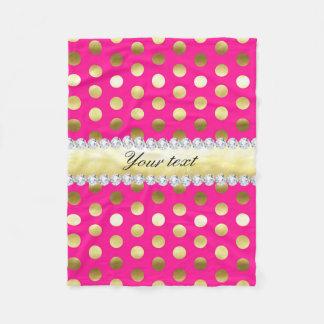 Cobertor De Velo Diamantes das bolinhas da folha de ouro do rosa