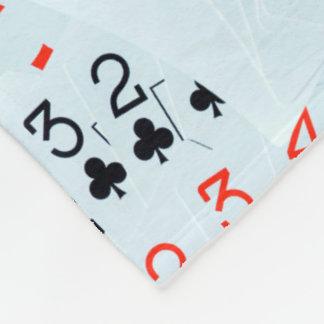 Cobertor De Velo Diamantes e ás dos clubes ao teste padrão do