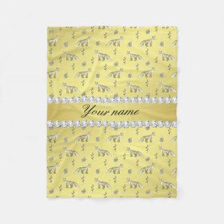 Cobertor De Velo Diamantes elegantes de Bling da folha de ouro do