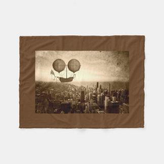 Cobertor De Velo Dirigível sobre Chicago