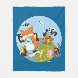 Cobertor De Velo Divertimento dos animais da floresta que funciona