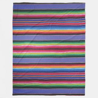 Cobertor De Velo Do impressão geral da listra de Serape do velo