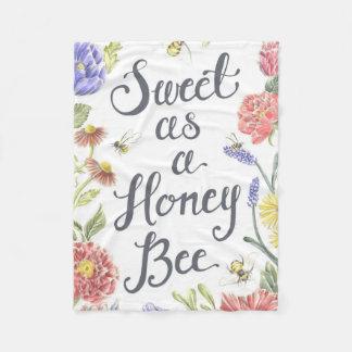 Cobertor De Velo Doce como uma cobertura do velo da abelha do mel