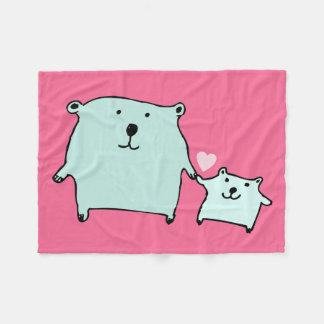 Cobertor De Velo Dois pouco amor carregam a cobertura cor-de-rosa