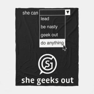 Cobertor De Velo Dos geeks mulheres para fora pode fazer qualquer