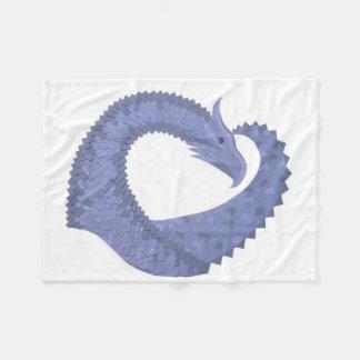 Cobertor De Velo dragão Azul-cinzento do coração no branco