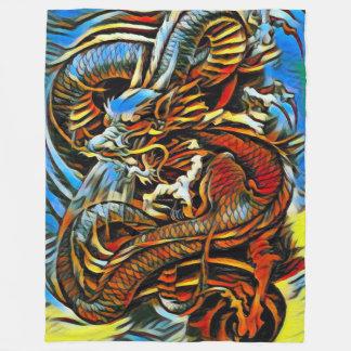 Cobertor De Velo Dragão chinês colorido