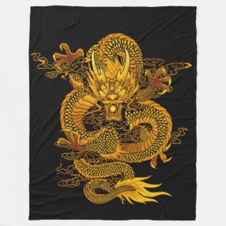 Cobertor De Velo Dragão chinês do imperador do ouro