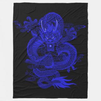 Cobertor De Velo Dragão do imperador dos azuis marinhos