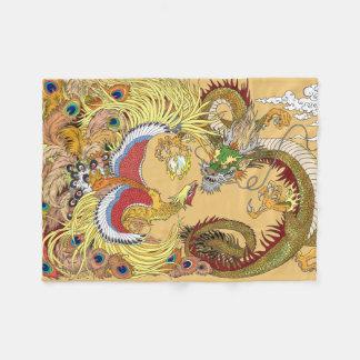 Cobertor De Velo Dragão e phoenix chineses