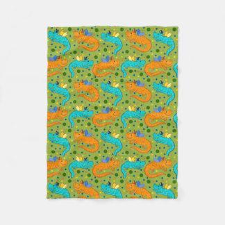 Cobertor De Velo Dragões coloridos