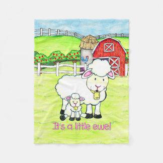Cobertor De Velo É uma ovelha pequena! O bebé revela a cobertura do