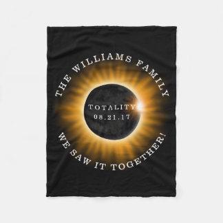 Cobertor De Velo Eclipse solar da totalidade da família